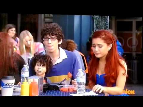 "Jade (Ariana Grande) Victorious -""my eyebrows are gone"" season 3 ep 12 crazy Ponnie"