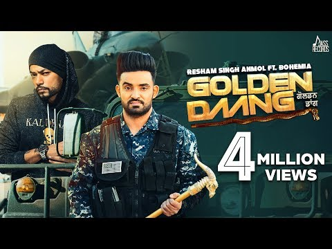 Golden Daang | ( Full HD) | Resham Singh Anmol Ft. Bohemia | Mixsingh | Shar-S | New Punjabi Songs
