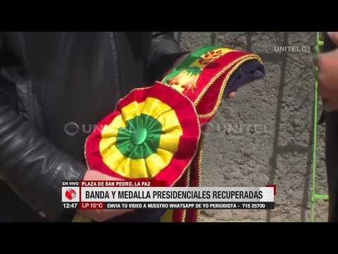 Toda la Cronica del Robo y la recuperación de la Medalla y la Banda Presidencial de Bolivia
