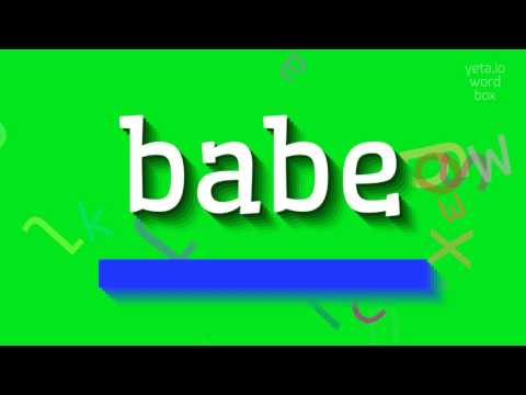 "How to say ""babe""! (High Quality Voices)"