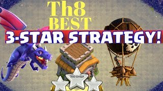 DRAGLOON Th8 Best 3 Star Attack Strategy Guide[2017]| How To Funnel Dragons| Clash of clans