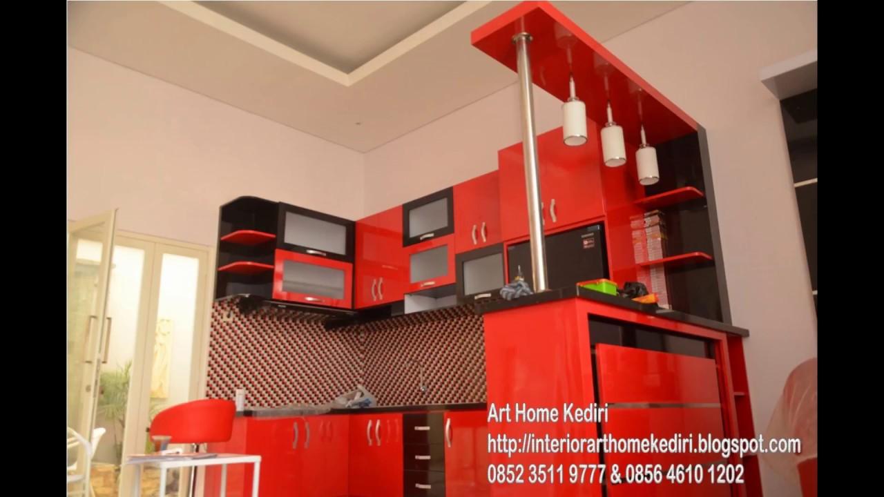 Desain Interior Kitchen Set Meja Bartender Minimalis Terbaru Trend
