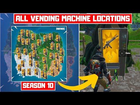 All Vending Machine Locations In Fortnite Season 10! - Claim Vending Machine Season 10!