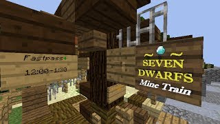 Seven Dwarfs Mine Train - MINECRAFT Disney World! MCPARKS