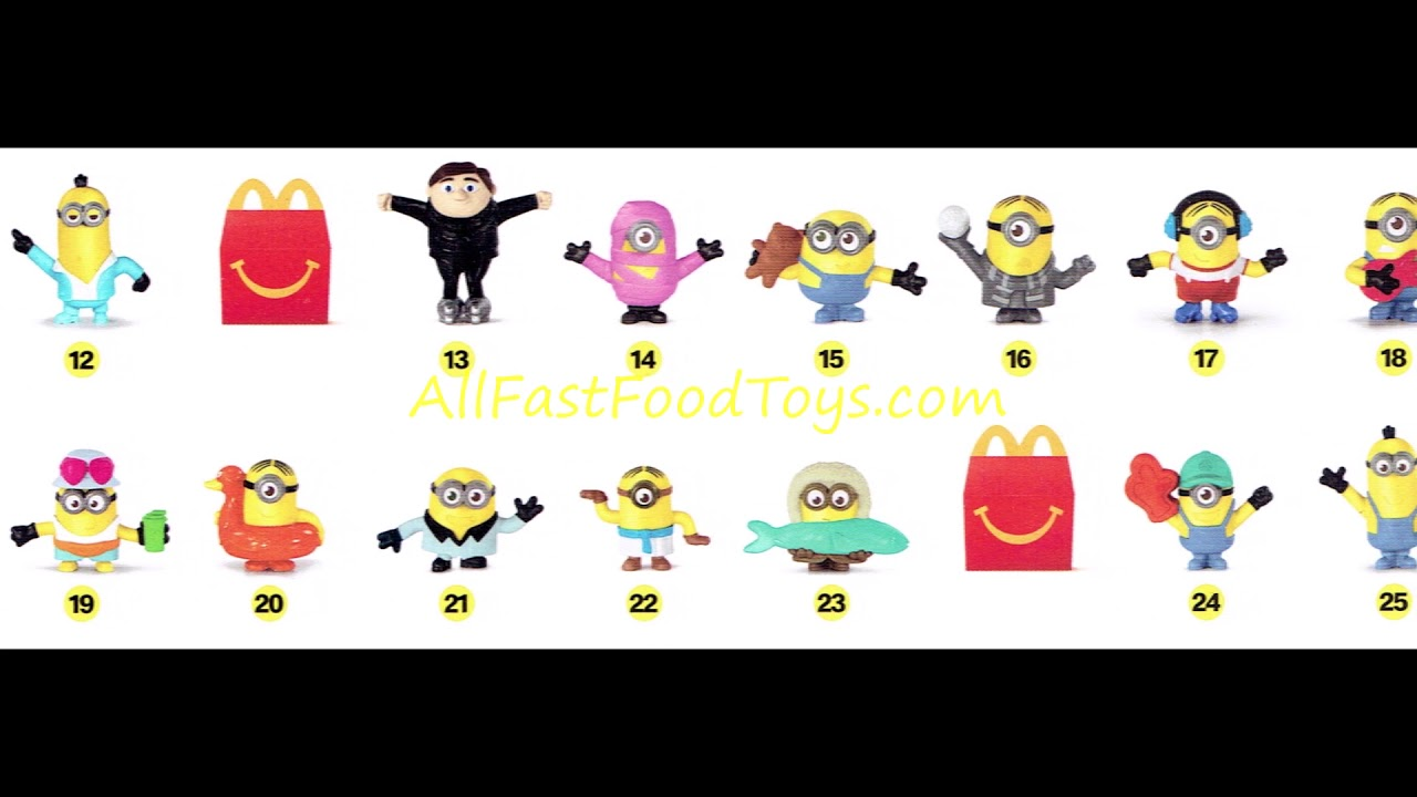 2020 Mcdonald S Minions 2 Happy Meal Toys Collection Full Set 48 X