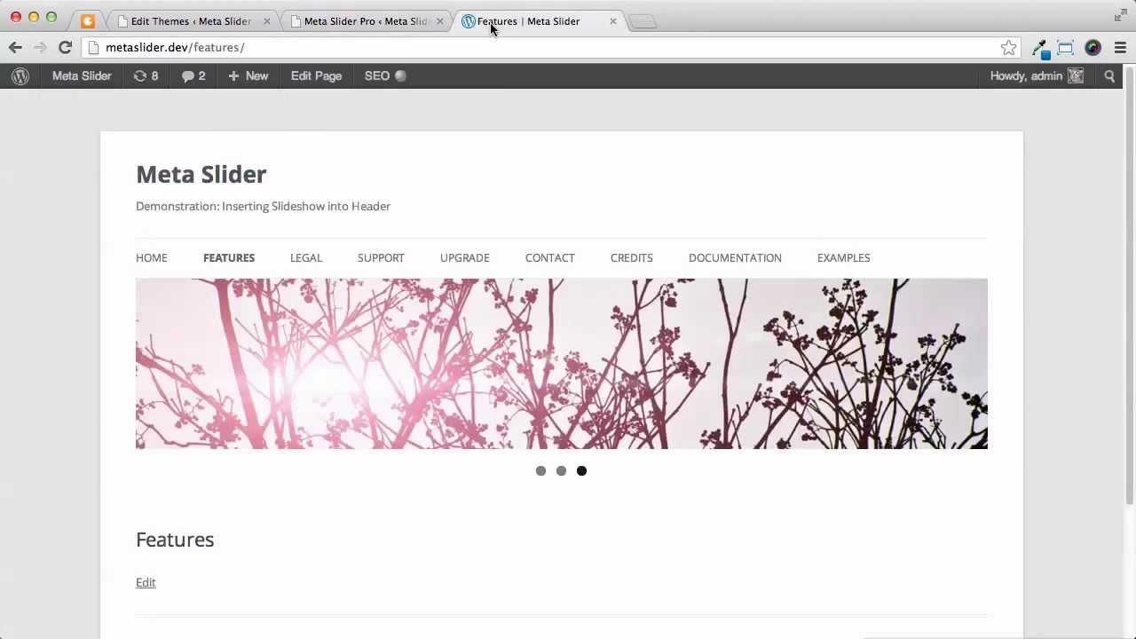 Wordpress Tutorial Insert Slideshow Into Header Youtube