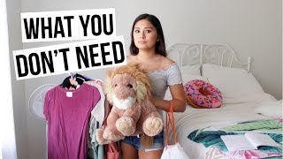 What You DON'T NEED to Bring to College!! +my tips