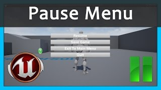How To Create A Pause Menu - Unreal Engine 4 Tutorial