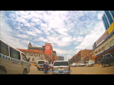 Kampala road drive - Lunch time hustle