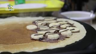 блины с бананом и шоколадом от Баскильг