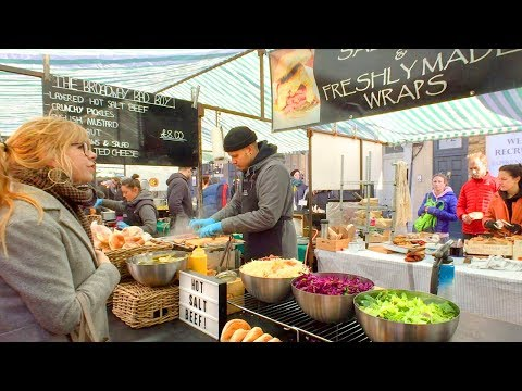 LONDON WALK | Broadway Market in Hackney feat. Lovely Street Food - plus London Fields | England