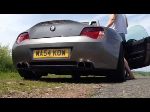 BMW Z4 E85 Quad Exhaust Conversion Sound Clip  YouTube