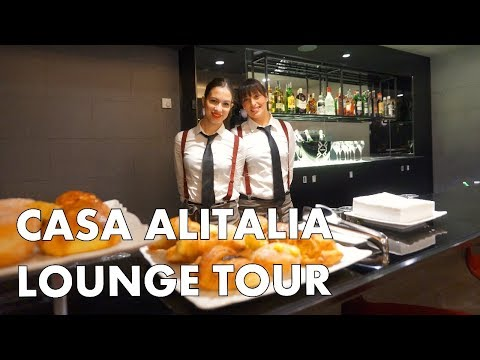 CHECK OUT THE ULTIMATE AIRPORT LOUNGE - Casa Alitalia in Rome