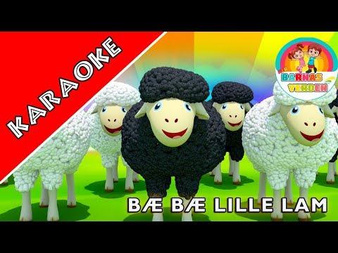 KARAOKE | Bæ bæ lille lam | Norske Barnesanger