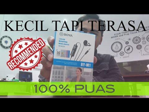Rekomendasi Mic Clip On Murah Berkualitas Youtuber Pemula | Unboxing U0026 Review Microphone Boya By-M1