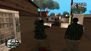 GTA san andreas - DYOM mission # 5 - Ballas attack !