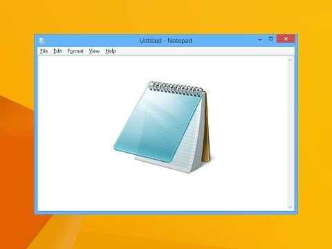 how to get to notepad setting
