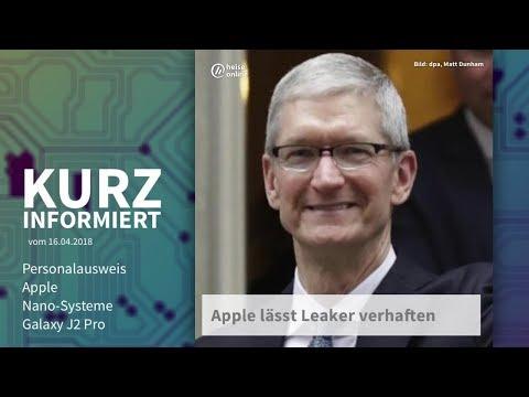 Kurz informiert vom 16.04.2018: Personalausweis, Apple, Nano-Systeme, Galaxy J2 Pro