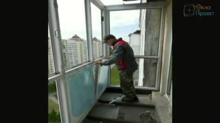 Вынос балкона по полу или как из косого балкона сделать прямой от Окна Проект(, 2015-06-25T14:50:54.000Z)