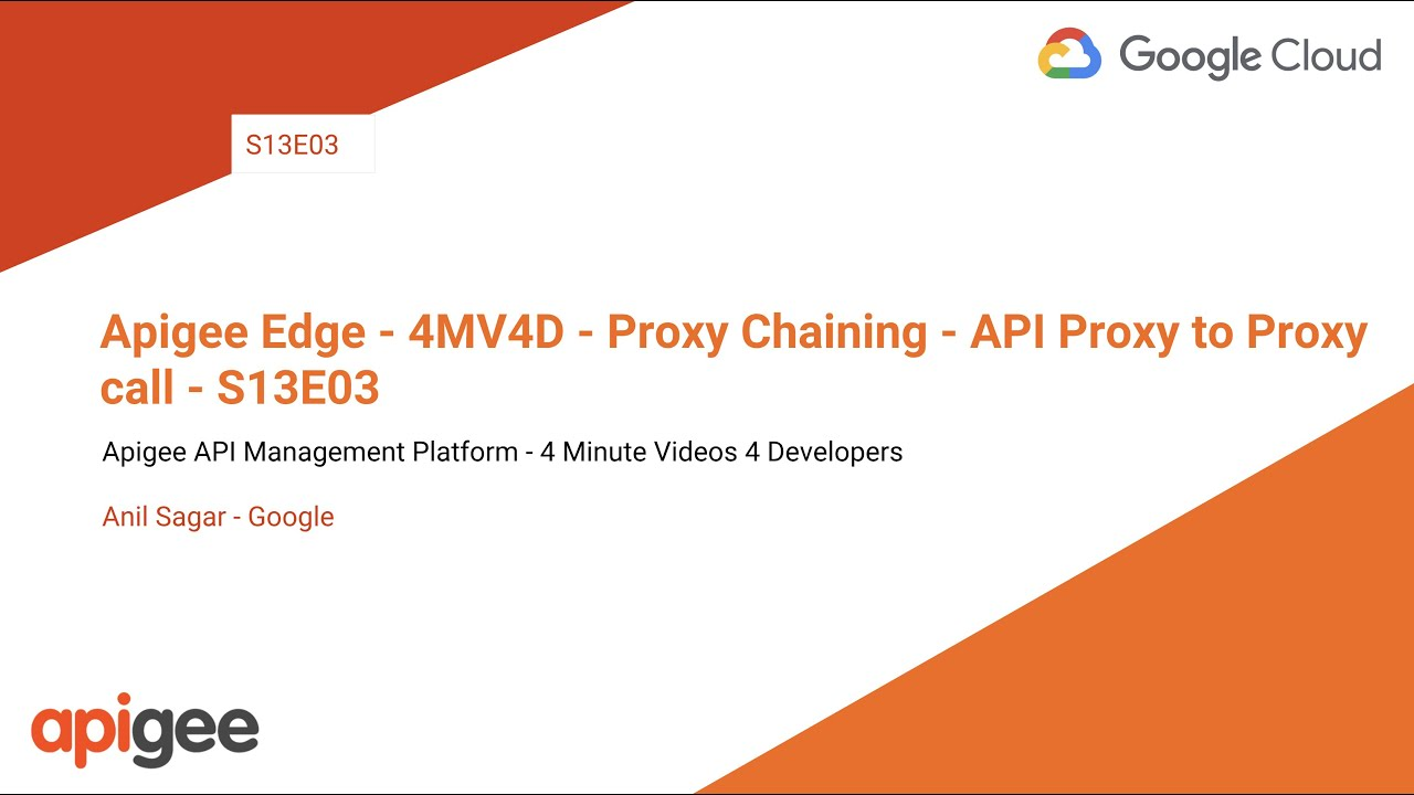 Chaining API proxies together | Apigee Docs