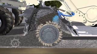 Animation WR240 cold recycling pre spread cement and foamed bitumen EN HI