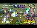 Alpha Anti Gank Hero with Perfect Lifesteal by EZ Dark King of Alpha   Mobile Legends