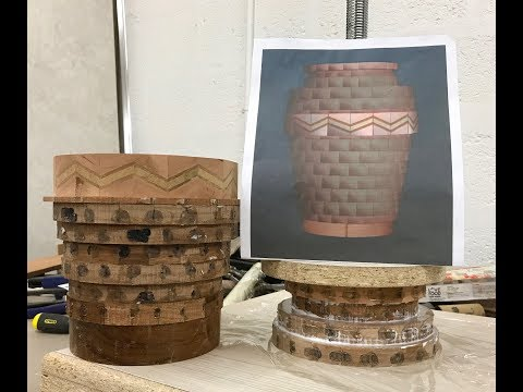 Walnut Segmented Vase With Chevron Feature Ring Part 1: Preparing the segments and Gluing Rings