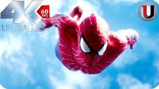 Petar Parker Free Fall - Amazing Spider-Man 2 Opening Scene - MOVIE CLIP (4K)