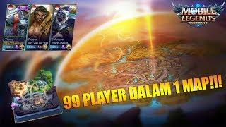99 PLAYER DALAM 1 MAP? BISA!!! NEW SURVIVAL MODE MOBILE LEGENDS