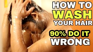 How To Wash Your Hair Correctly | Hindi | How To Shampoo To Stop Hairfall