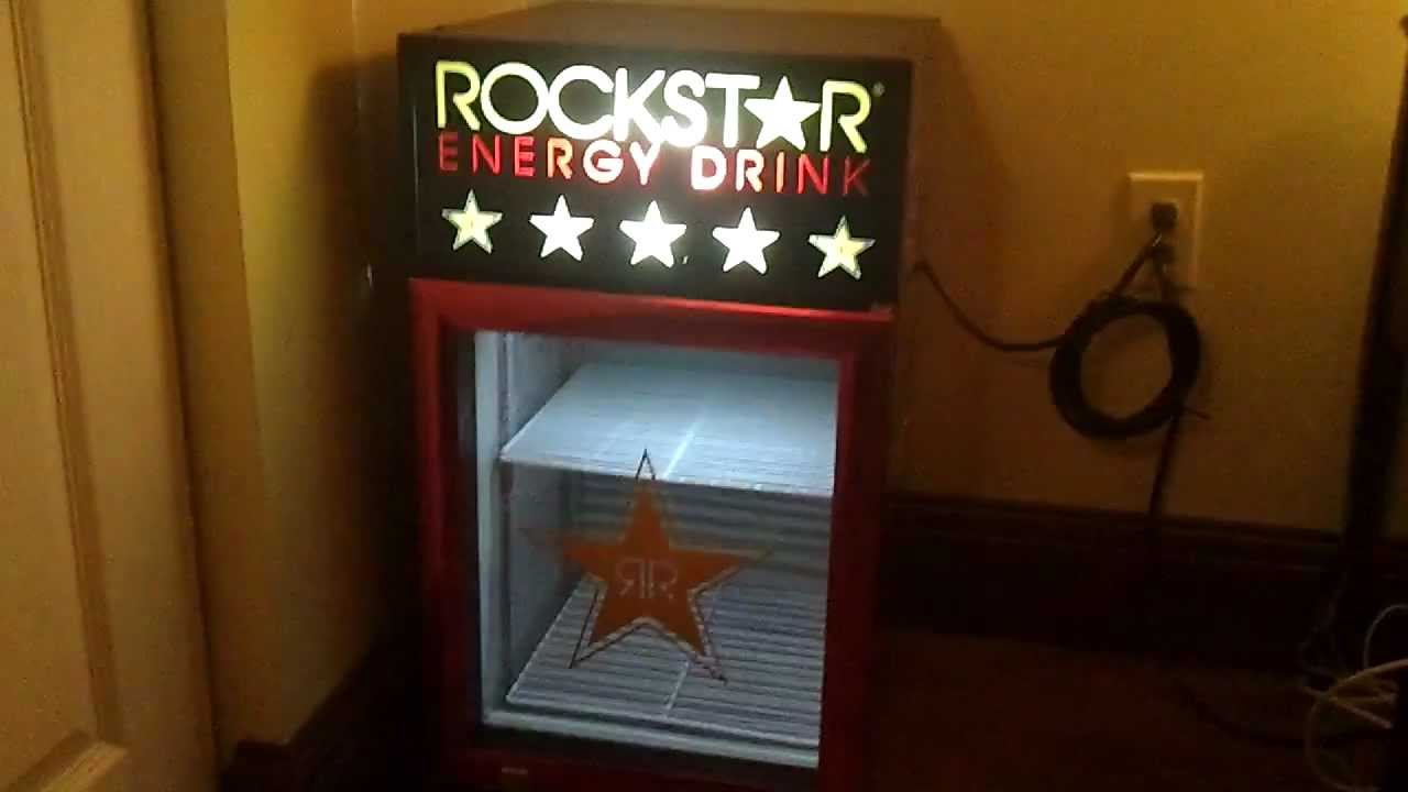 ROCKSTAR Energy Drink Mini Fridge - YouTube