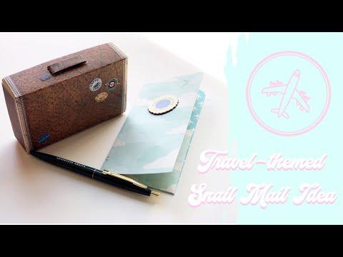 Snail Mail Idea: Travel-themed - boarding pass & mini suitcase!✈️