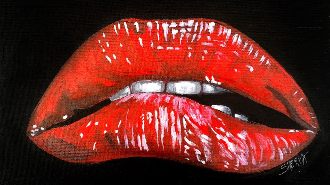 Learn To Paint Realistic Lips For Beginners Rocky Horror Picture
