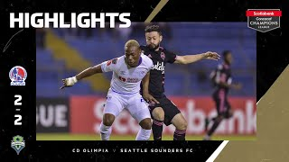 SCCL2020: Olimpia vs Seattle Sounders   Highlights