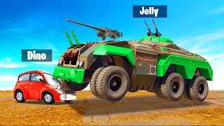 GIANT ARMORED TANK vs. TINY Cars! (Crossout)