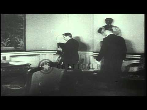 The estate and belongings of French politician Pierre Laval are sold during an op...HD Stock Footage