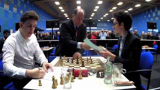 CHAMPION!! Fabiano Caruana vs Jan-Krzysztof Duda    Tata Steel Chess 2020 - R12
