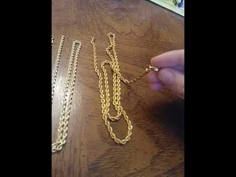 Real Vs Fake Solid Gold Rope Chains Review Youtube