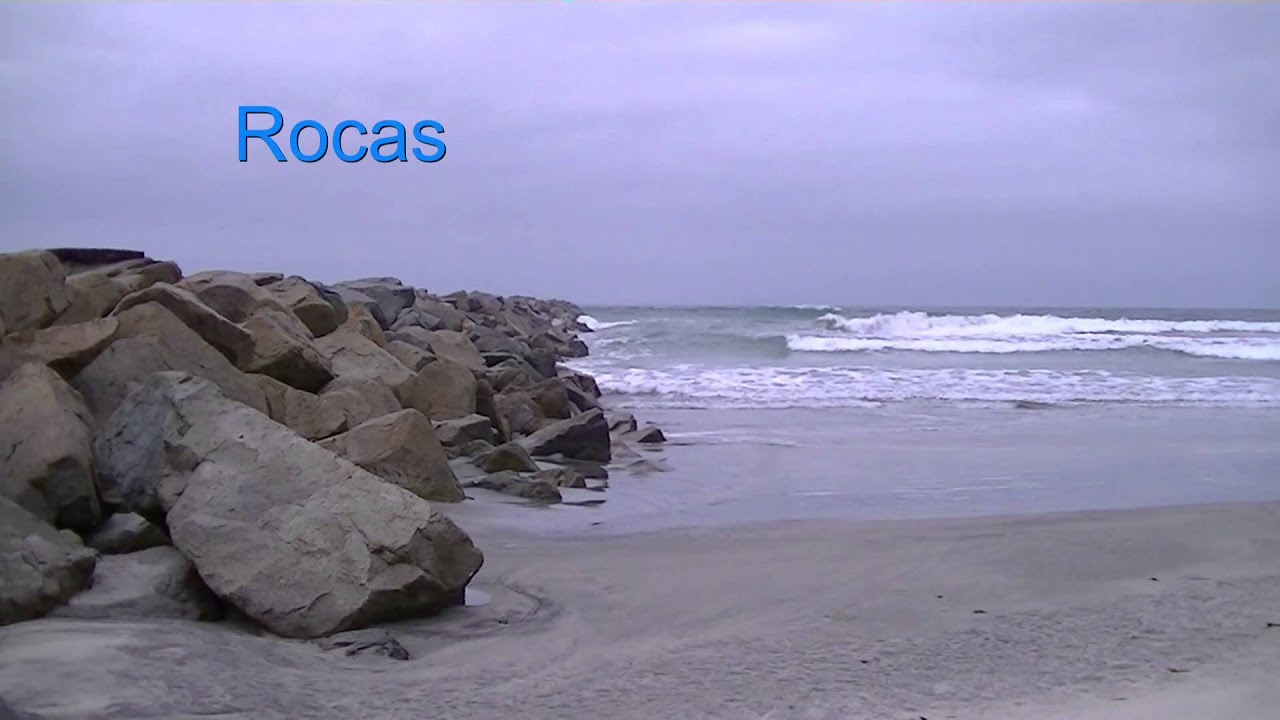 Lovely Rocks In Spanish Part - 1: Rocks In Spanish Is Rocas - Spanish Vocabulary Lesson - Ocean Themed Words
