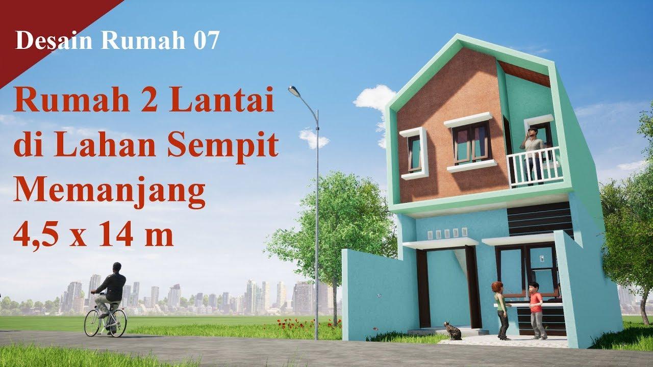 Desain Rumah 07: Desain Rumah Kecil 2 Lantai di Lahan ...