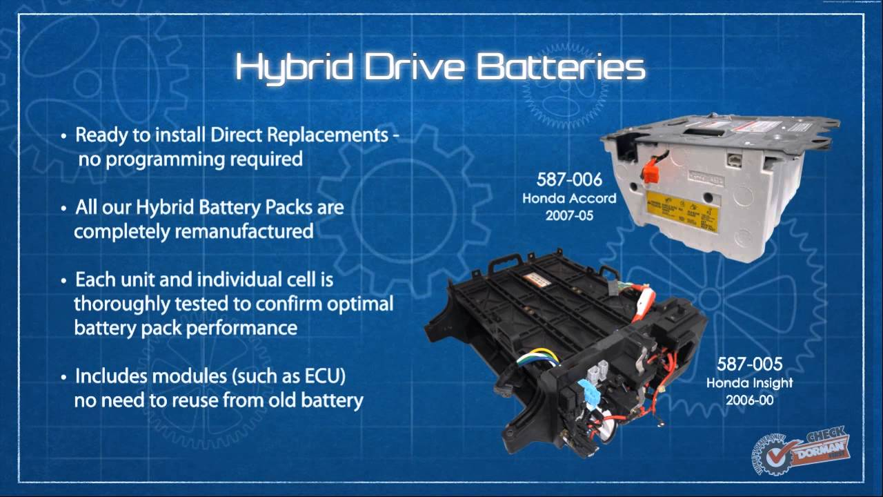 hybrid battery pack 587 006 remanufactured hybrid drive battery dorman products [ 1280 x 720 Pixel ]