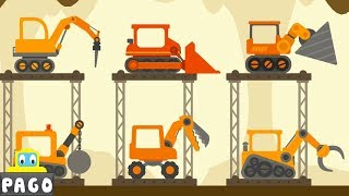 Truck Construction The Excavator - Dinosaur Digger 4 – The Truck - Digger Cartoons for Children