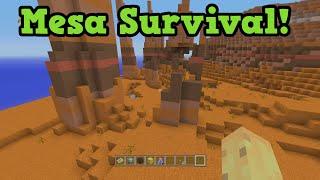 Minecraft Xbox TU31 Mesa Biome Survival - Red Sand & Building