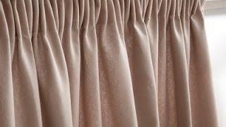 Шьем шторы.Пришивание шторной ленты. Способ 3.