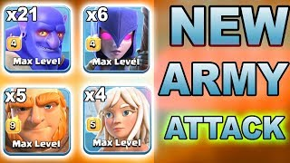 NEW ARMY ATTACK! TH12 Attack Strategy Bowler+21 Witch+6 Giant+5 Healer+4 3 Star 3 inferno TH12 Base