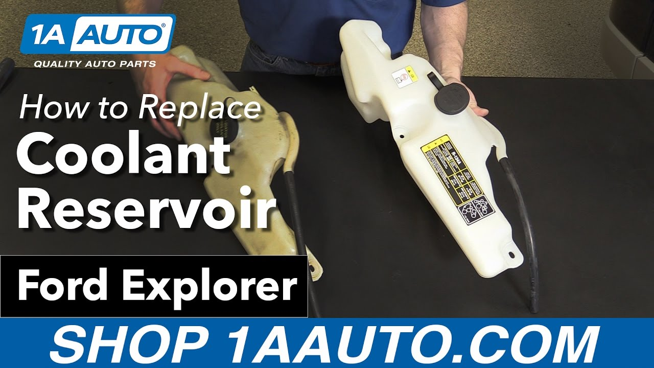 How to replace install coolant reservoir bottle 2006 10 ford explorer buy auto parts at 1aauto com