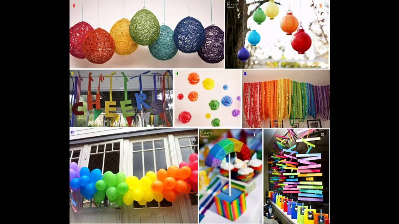 Cute Rainbow party decorations ideas YouTube