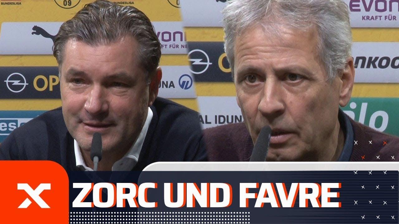 """Ärger mit Jadon Sancho """"ist vorbei!"""" Lucien Favre und Michael Zorc vor Mainz 05 - Borussia Dortmund"""