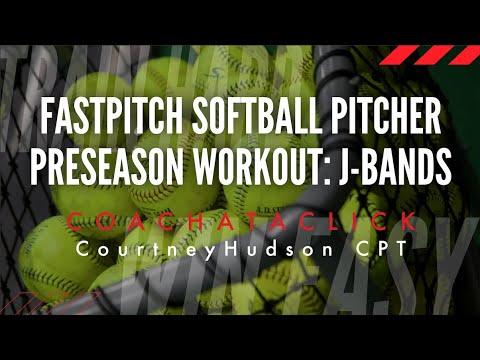 Fastpitch Softball Pitcher Pre-Season Workout using J-Bands