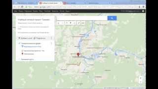 Создание метки на карте google
